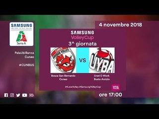 Cuneo - Busto Arsizio   Speciale   3^ Giornata   Samsung Volley Cup 2018/19
