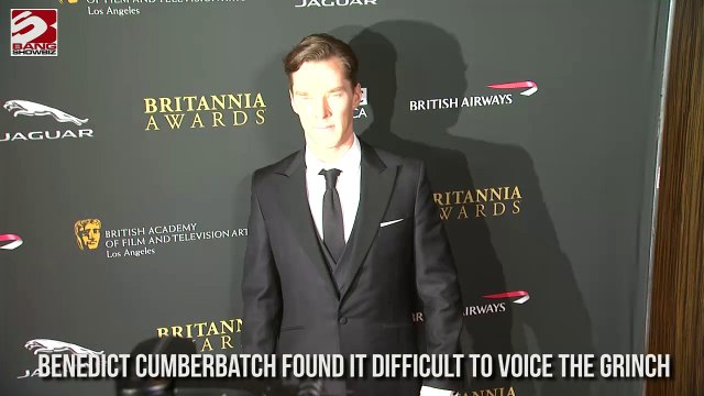 Benedict Cumberbatch found it difficult to voice the grinch