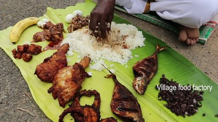 Deepavali!!! Variety of NON-VEG's with my brothers and sisters - Village food factory