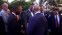 Prince Charles bumps into supermodel Naomi Campbell at Nigerian royal reception