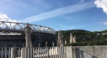 Lazio-OM : calme plat et soleil radieux autour du Stadio Olimpico à 4h30 du coup d'envoi