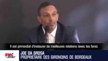 Bordeaux : Le message d'amour du nouveau propriétaire aux ultras