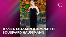 PHOTOS. 3, 2, 1... Jessica Chastain lance les illuminations de Noël aux Galeries Lafayette