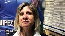 Coupe du Rhône - Martine GRANOTTIER (District Lyon et Rhône) réagit après le tirage des 32èmes de finale