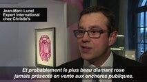"""Le """"Pink Legacy"""", diamant rose exceptionnel, en vente à Genève"""