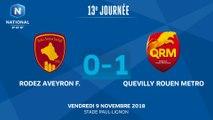 J13 : Rodez Aveyron F. - Quevilly Rouen M. (0-1), le résumé