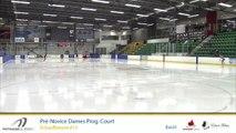 Championnats A de la section Québec - Patinage Canada 2019 Eve 1 Pré-Novice Dames prog. Court échauffement 14-17