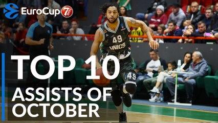 7DAYS EuroCup, Top 10 Assists of October!