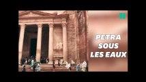 Le site antique de Petra, en Jordanie, submergé après des pluies torrentielles