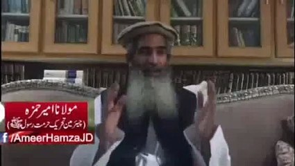 Molana Ameer hamza reveal facts about army chief