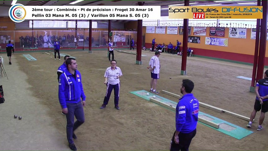 Second tour intégral, France Club Elite 1, J4, Tarare contre CRO Lyon,  saison 2018/2019