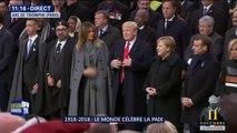 11-Novembre: Donald Trump est arrivé sous l'Arc de Triomphe