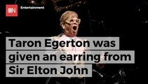 Taron Egerton Gets Jewelry From Elton John