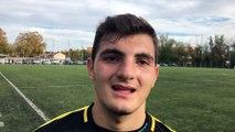 GAMBARDELLA U19 – Iouri OGANESSIAN (Lyon-Duchère AS) réagit après la qualification de son équipe au FC Villefranche