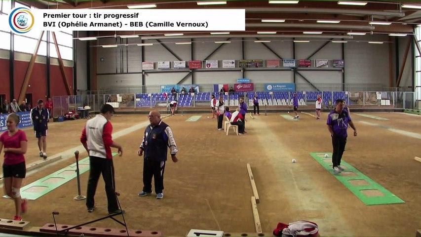 Premier tour, tir progressif, France Club Elite 1 F, J3,  Bourg-en-Bresse contre Bièvre Isère, saison 2018/2019
