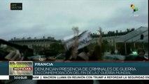 Policía francesa reprime protesta de mujeres contra la visita de Trump