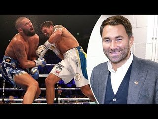Eddie Hearn REACTION to TONY BELLEW KNOCKOUT LOSS vs. Oleksandr Usyk