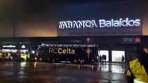 Celta-Real Madrid: Llegada del Celta a Balaídos