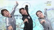 髙橋大輔 Daisuke Takahashi、鈴木明子 Akiko Suzuki、織田信成 Nobunari Oda  レジェンドトークコーナーNHK杯2018 40回大会記念「レジェンドオンアイス」
