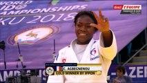 Parcours de Clarisse Agbegnenou (-63kg), ChM de judo 2018
