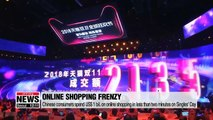 Chinese shoppers spend US$ 30.8 bil. on Singles' Day, record sales for South Korean beauty brands