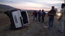 Gercüş'te Trafik Kazası! Kontrolden Çıkan Araç Takla Attı: 5 Yaralı