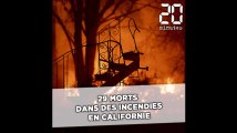 Incendies en Californie: Une trentaine de morts, bilan le plus lourd depuis 1933