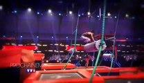 Big Bounce, la course de trampoline (TF1) :  le nouveau jeu de Laurence Boccolini  et Christophe Beaugrand