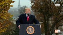 President Trump Attends The American Commemoration Ceremony In France
