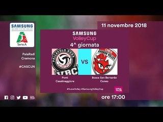 Casalmaggiore - Cuneo   Speciale   4^ Giornata   Samsung Volley Cup 2018/19