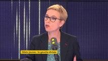 """Taxe sur les carburants : """"Ce que je demande, c'est qu'on n'assomme pas les automobilistes, mais qu'on les aide. [...] Je ne suis pas favorable à la hausse telle qu'elle est proposée aujourd'hui"""", estime Clémentine Autain, députée La France insoumise"""