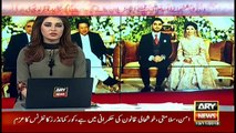 Founder and CEO ARY DIGITAL Network Salman Iqbal attends wedding reception of Gen Bajwa's son