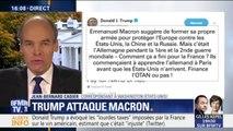 Donald Trump s'attaque à Emmanuel Macron dans une série de tweets