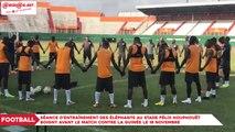 Eliminatoires CAN 2019 : Séance d'entraînement des Éléphants au stade FHB avant le match contre la Guinée le 18 Novembre
