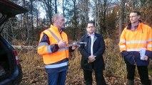 Utilisation d'un drone par les forestiers dans la forêt de Scey-sur-Saône