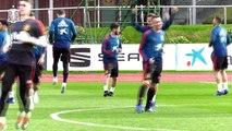 Sesión de entrenamiento de la Selección antes de viajar a Croacia