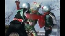 Kamen Riders Ichigo and Nigo get nuke'd (Kamen Rider V3, 仮面ライダーV3 Kamen Raidā Buisurī, Masked Rider V3)
