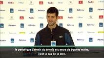"""Masters - Djokovic : """"L'avenir du tennis est entre de bonnes mains"""""""