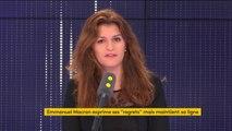 """Gilets jaunes : """"A la base il y a un mouvement spontané, mais qui est aussi organisé. Marine Le Pen a concédé elle-même que le RN tractait pour appeler à manifester"""" affirme Marlène Schiappa"""