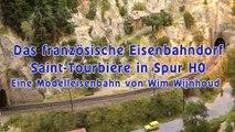 Modellbahn Spur H0 Anlage der Eisenbahn von Saint Tourbière von Wim Wijnhoud - Ein Film von Pennula von der Modellbahnausstellung Modelspoor Expo in Leuven in Belgien