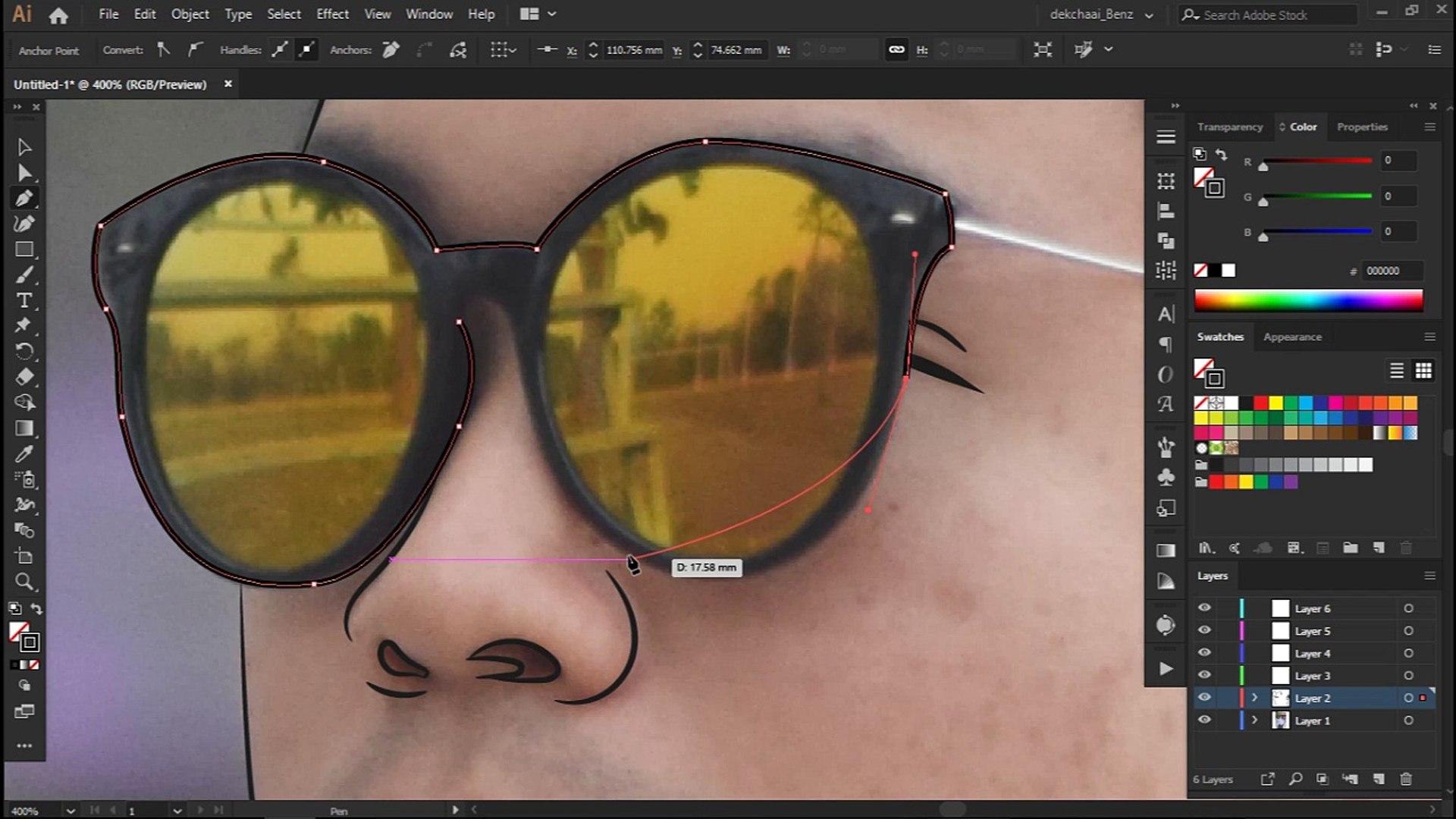 SA RACH | Draw Vector Portrait (Adobe Illustrator) //Speed Draw