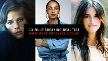13 Beauties Who Made Freckles Iconic