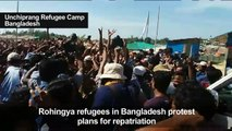 Rohingya refugees in Bangladesh protest against repatriation