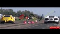Drag Race - Bugatti Vs Ferrari Vs Lamborghini Vs Mclaren Vs Porsche @OtoDrag