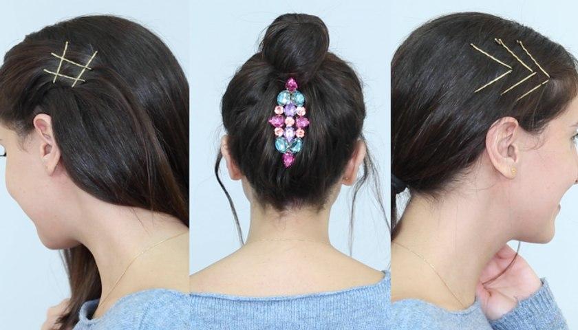3 تسريحات شعر مزيّنة بالأكسسوارات  الرائجة يمكنك تطبيقها في دقيقتين!