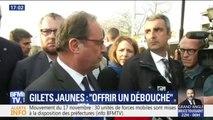 """Gilets jaunes: """"La responsabilité de la démocratie est d'offrir un débouché"""", estime François Hollande"""