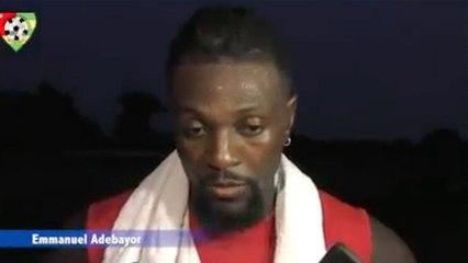 Adebayor veut être décisif contre l'Algérie
