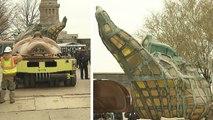 La torche originale de la Statue de la Liberté déplacée dans un nouveau musée