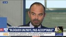"""Gilets jaunes: """"On peut manifester mais bloquer un pays n'est pas acceptable"""", estime Edouard Philippe"""