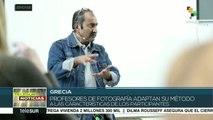 Grecia: realizan taller de fotografía para personas ciegas